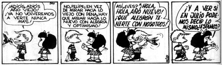 Chau Año Viejo - Hola Año Nuevo - Mafalda
